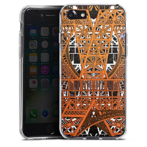 Apple iPhone X Silikon Hülle Case Schutzhülle Paris Eiffelturm Muster Silikon Case transparent