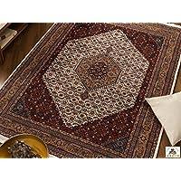 badohi Bidjar shirtzshop classico Orient tappeto handgeknüpft in crema/beige, dimensioni: