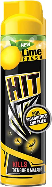 HIT Mosquito and Fly Killer Spray, Lime Fragrance, 625ml
