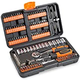 VonHaus 130pc Socket + Bit Set Including 72-Teeth Ratchet Handle - Useful