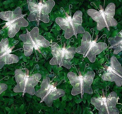 Premier 20 LED papillon en maille Argenté