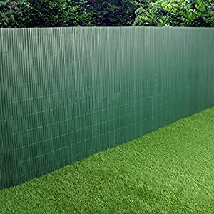 Pvc Garden Fence Plastic Panel Screen Double Faced Green