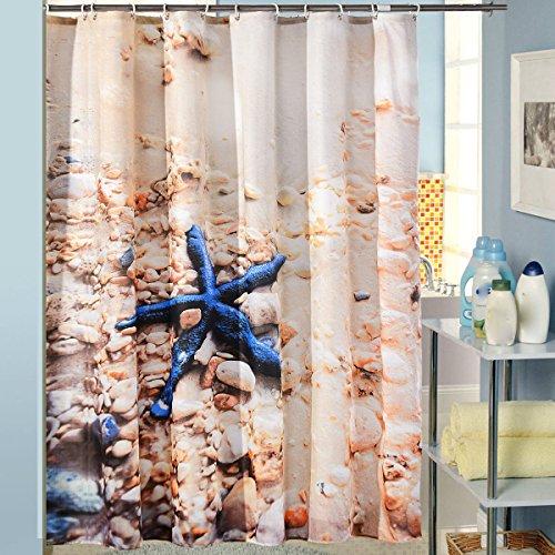 ERDFCV Duschvorhänge Wasserdicht Hochwertige Opazität Herrlich Vorhänge Dusche,Brown-120*200cm (Herrliche Dusche Vorhang)