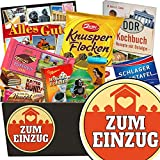 Zum Einzug | Schokoladen Set | Geschenkset | Zum Einzug | Schokoladenkorb | Geschenk zum Einzug Frau | GRATIS DDR Kochbuch