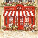 ambiente–Servilletas–Paris Cafe–Francia/Patisserie