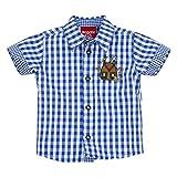 BONDI Trachtenhemd halbarm, karo blau 98 Tracht Baby Jungs Artikel-Nr.90776