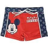 Disney Mickey Mouse Bañador para Niños, Boxers, Natacion, Slips, Vacaciones Piscina Playa, Secado Rápido y Transpirables, 2 a
