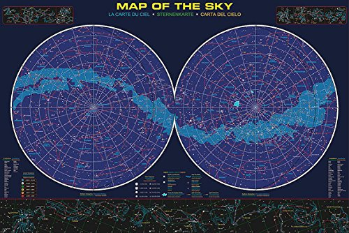 Sternenkarte Poster Map Of The Sky (91,5cm x 61cm) + Ü-Poster