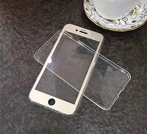 iPhone 7 Plus Case iPhone 8 Plus Custodia,2ndSpring PC front TPU Cover Custodia Full Body Apple iPhone 6 Plus/6S Plus Fronte Retro Protezione a 360 Gradi Morbido TPU Silicone Cover,Nero Oro