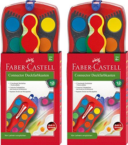 2 Stück Faber-Castell - Farbkasten CONNECTOR mit 12 gebraucht kaufen  Wird an jeden Ort in Deutschland