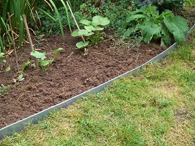 Rasenkanten Metall, Beeteinfassung Stahlblech feuerverzinkt, 130 mm hoch, 12er Set von Grünberger Metallbau - Du und dein Garten