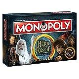Winning Moves Monopoly el señor de los Anillos Edition–Familia de la Lucha por Tierra Media | Sociedad Parte | Parte | Tabla Juego clásico |