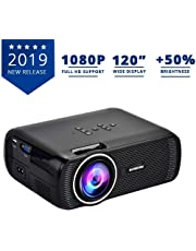 Everycom X7 LED Projector Full HD 1080P Supported, Compatible with Smartphone, TV Stick, USB , HDMI, VGI, AV, Home Theatre [ 2019 Upgrade ]