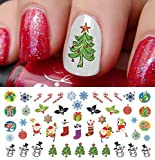 Christmas Holiday Assortment Water Slide Nail Art Decals Set #6- Salon Quality 5.5 X 3 Sheet! by Moon Sugar Decals