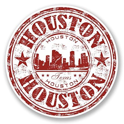 2 x 20cm/200mm Houston, Texas, USA Fenster kleben Aufkleber Auto Van Wohnmobil Glas #5826