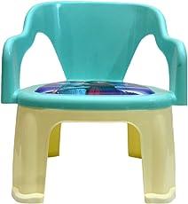 Kidzvilla® Pop N up Plastic Strong Durable Chair for Kids (Aqua Blue)