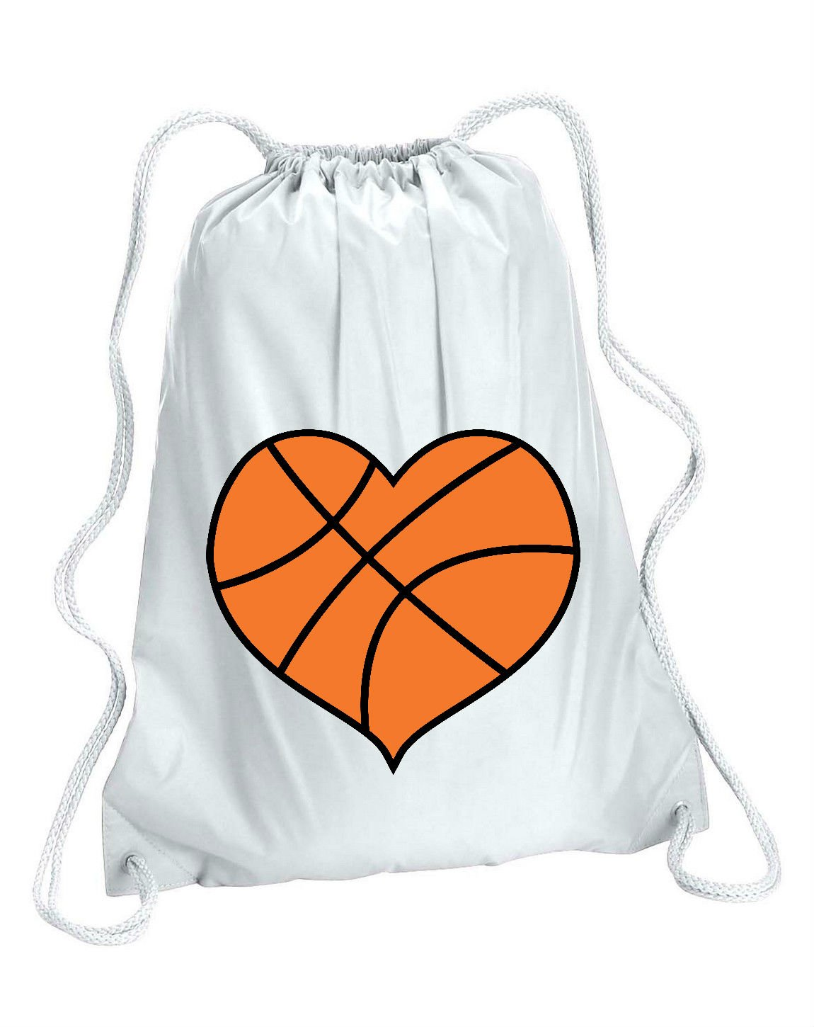 Basketball heart shaped sports gym bag white amazon basketball heart shaped sports gym bag white amazon sports outdoors sciox Gallery