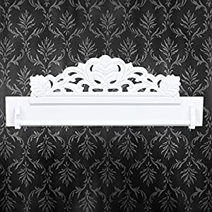 neu holz garderobenleiste shabby chic weiss. Black Bedroom Furniture Sets. Home Design Ideas