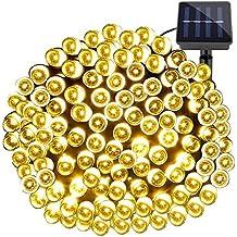 LE Guirnalda Luces Solar 200 LED 20m 8 modos Blanco cálido, Sensor de luz, luz de ambiente para exteriores, fiestas