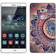 Huawei Mate S Funda, Fubaoda [Flor de la mandala] TPU Silicona Case Cover Soft Parachoques Carcasa Funda Bumper para Huawei Mate S, [Ultra-delgado] [Shock-Absorción] [Anti-Arañazos] para Huawei Mate S