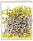 Glaskopfnadeln ST 1 gelb 0,60 x 43 mm