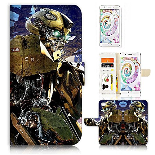 ( For Oppo F1S ) Flip Wallet Case Cover & Screen Protector Bundle - A21293 Transformers Bumblebee