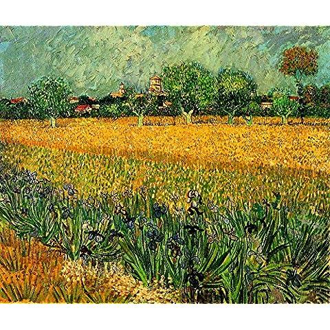 Il museo Outlet-View di Arles con Iris-Poster in primo piano (60,96 x 45,72 (24