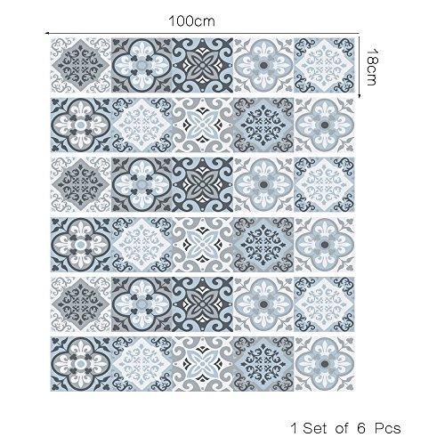 DOGZI Fliesenaufkleber Wandaufkleber Spiegel Aufkleber - DIY Schritte Aufkleber Abnehmbare Treppe Aufkleber Home Decor Keramik Fliesen Muster -