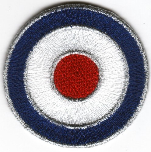 Sew-on Iron-on Embroidered Patch MOD Target British Scooter Lambretta Vespa Badge -
