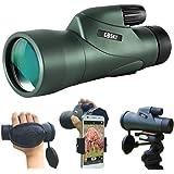 Gosky 12x55 High Definition Monoculaire telescoop en snelle smartphonehouder - Nieuwste waterdichte monoculaire BA4 prisma vo