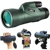 Gosky 12x55 High Definition Monocular and Quick Smartphone Holder - Newest Waterproof Telescope-BAK4 Prism for Bird…