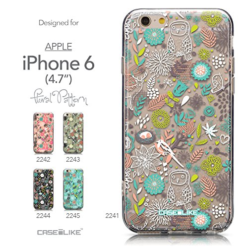 CASEiLIKE Wandschmierereien 2703 Ultra Slim Back Hart Plastik Stoßstange Hülle Cover for Apple iPhone 6 / 6S (4.7 inch) +Folie Displayschutzfolie +Eingabestift Touchstift (Zufällige Farbe) 2241