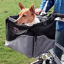 Cesta de bicicleta para perros, mascotas, parte delantera, para manillar, correa para el hombro, resistente, estable