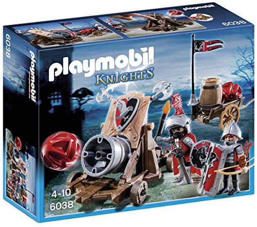 Playmobil Caballeros- Hawk Knights` Battle Cannon