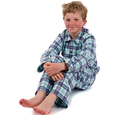 Traditional Boys Pyjamas in Cosy Brushed Cotton Checks for Winter ...