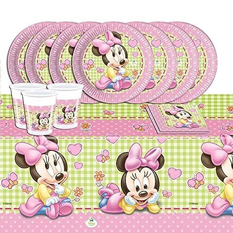Disney Baby Minnie Maus - Partyset für 16 Kinder