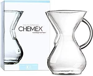 Chemex, Caffettiera per 6 tazze, con manico in vetro