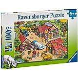 Ravensburger 10613 - Lustiger Bauernhof - 100 Teile XXL Puzzle