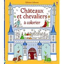 Châteaux et chevaliers à colorier