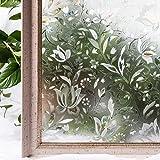 CottonColors Fensterfolie Sichtschutzfolie 3D Dekofolie statisch selbstklebend Anti UV milchglas Fensterfolien keine Phthalate umweltfreundlich 3ft x 6.5 ft (90 x 200 cm)