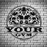 Bodybuilding Gym Eisen Sport Gewicht Vinyl Wandaufkleber Dekoration Wohnzimmer Schlafzimmer...