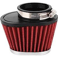 Blesiya Filtro Aria carburatore Interfaccia Corno Tazza di 50mm con Rete Velocit/à Pile Adatto per 21//24//26//28//30mm PWK Carb Rosso