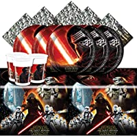 Disney BPWFA-22 Star Wars The Force Awakens Party Tableware Set for 8 Person