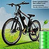 Coorun E-Bike Elektrofahrrad Mountainbike 26 Zoll E-Bike Elektro-Fahrrad 36V 250W Hochgeschwind mit Große Kapazität Lithium-Akku,21-Gang Shimano Zahnrad