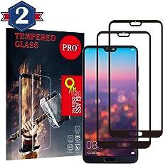 Panzerglas Schutzfolie für Huawei P20 Pro, [2 Stück] Qualität 3D Gehärteter Glas panzerfolie 9H Härte [Anti-Kratzen] [Anti Fingerabdruck] [Blasenfrei] 3D Displayschutzfolie folie für Huawei P20 Pro
