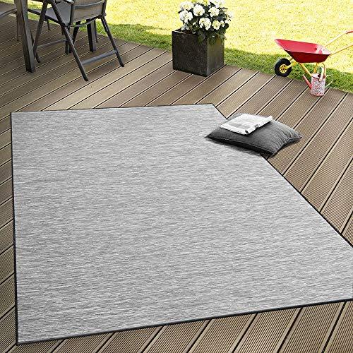 Paco Home In- & Outdoor Flachgewebe Teppich Terrassen Teppiche Mit Farbverlauf In Grau, Grösse:160x220 cm