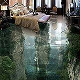 Mznm Menschliche Fairyland Peak Cliff Wohnzimmer Badezimmer 3D Stock Custom großen Fresko Pvc Wasserdicht dickes Wearable Stock einfügen