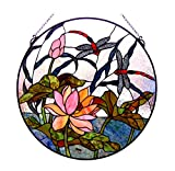 'Fine Art Beleuchtung Tiffany Fenster Panel, 24, 218Glas Schnitte inkl. 19Cabochons