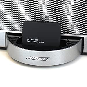 LAYEN i-SYNC - Bluetooth Audio Adaptor / Receiver. Stream Music Wirelessly From Your Bluetooth Device; iPod, iPhone, iPad, Smartphone, Tablet, MP3 Player, PC or Laptop to your Docking Station or Stereo System (Not Suitable for Cars - See Below)