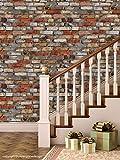 PPD 'Bricks Grey Brown Mix' Peel and Stick Wallpaper (Self Adhesive, 40 cm x 1016 cm)